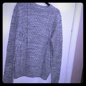 Gray H&M cable knit sweater